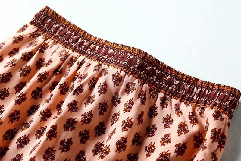 Boho Skirt, Statice in Cherry Pink