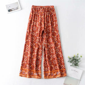 Boho Pant, Palazzo Pant, Wild Gypsy in Indian Red