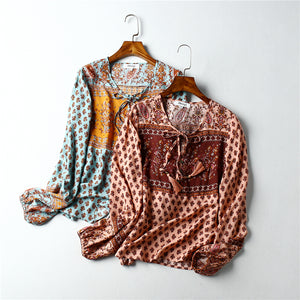 Boho Blouse, Sarafina in Sea