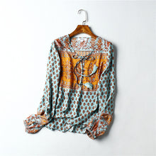 Load image into Gallery viewer, Boho Blouse, Sarafina in Sea
