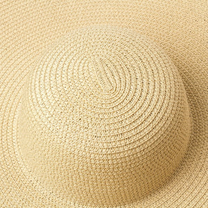 Boho Hat, Sun Hat, Beach Hat, Extra Large Wide Brim, Straw Hat, 3 colors (Soft, 26 cm)