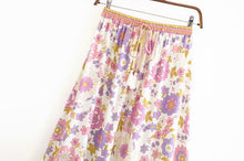 Load image into Gallery viewer, Boho Skirt, Maxi Skirt, Buttercup Floral in Crepe