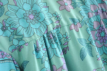 Load image into Gallery viewer, Boho Blouse, Buttercup Floral in Cerulean
