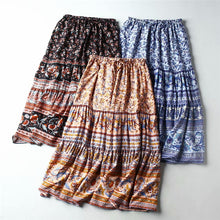 Load image into Gallery viewer, Boho Skirt, Midi Skirt, Camilla in Midnight
