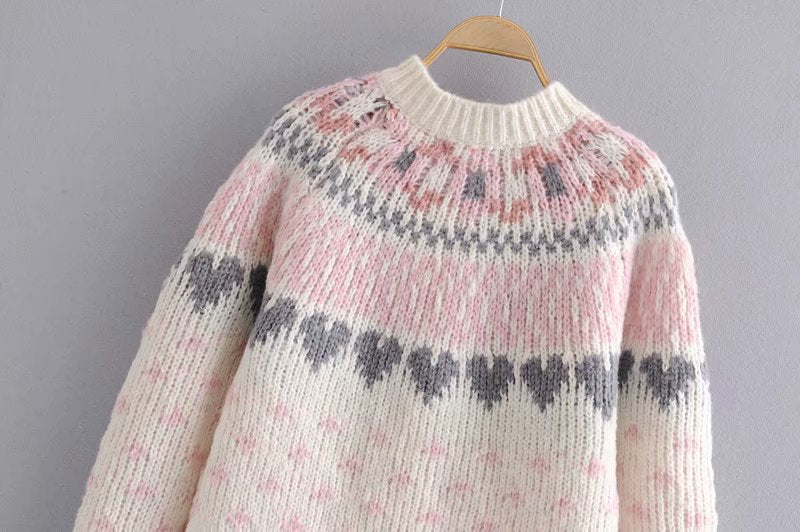 Boho Sweater, Knit Sweater, Love Fancy Petal Milky