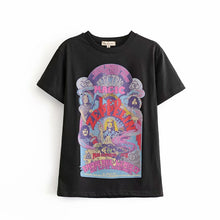 Load image into Gallery viewer, Boho Tee, Vintage T Shirt, Led Zep plin Magic in Black