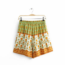 Load image into Gallery viewer, Boho Pant, Short, Sunflower in Green