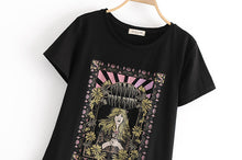 Load image into Gallery viewer, Boho Tee, Vintage T Shirt, Moon Child 2 Colors (Khaki & Black)