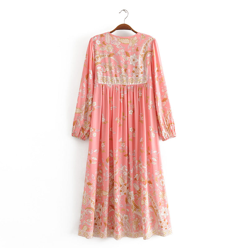Boho Dress, Gown, Dusty Rosewood in Orose
