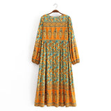 Boho Dress, Gown, Calla in Orange