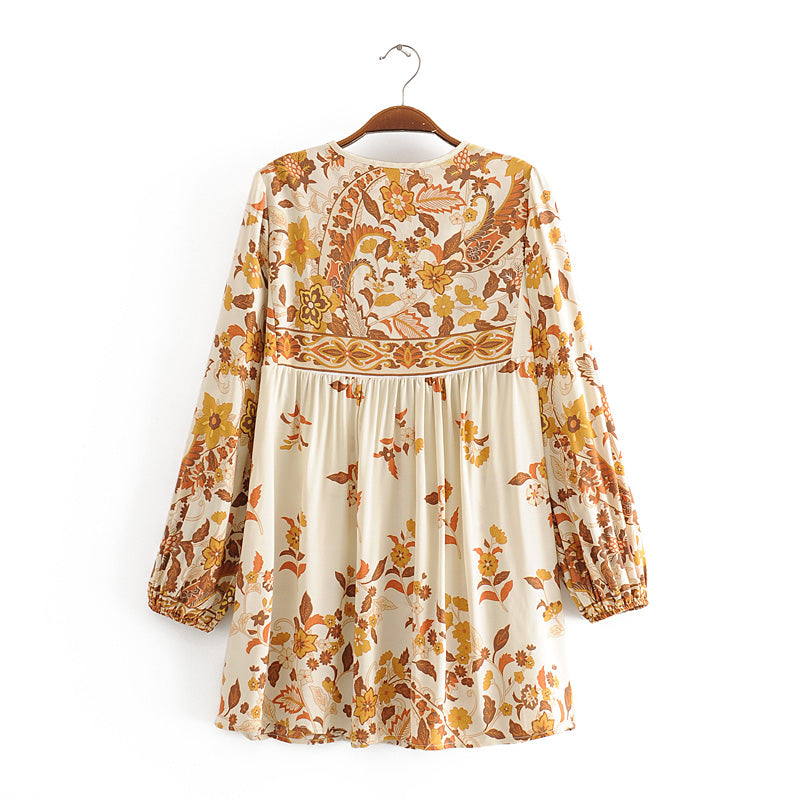 Boho Blouse, Rose Persia in Gold (have matching short pant set)