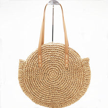 Load image into Gallery viewer, Boho Bag, Woven  Straw Rope Tote Bag, Helen (2 sizes)