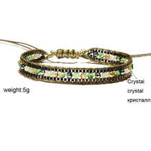 Load image into Gallery viewer, Boho Bracelet, Crystal Wrap Bracelet