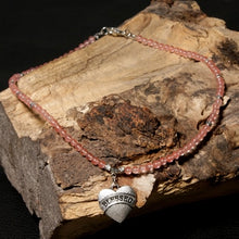 Load image into Gallery viewer, Boho Necklace, Natural Stone Breads, Blessed Heart