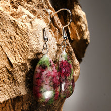 Load image into Gallery viewer, Boho Earrings, Drop Earrings, Natural Stone