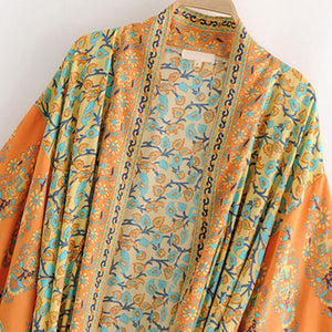 Boho Robe, Kimono Robe, Beach Cover Up, Rosa in Orange