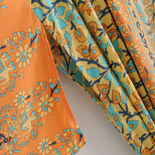 Load image into Gallery viewer, Boho Robe, Kimono Robe, Beach Cover Up, Rosa in Orange