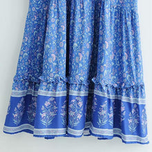 Load image into Gallery viewer, Maxi Dress, Boho Dress, Wisteria in Blue