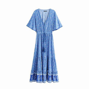 Maxi Dress, Boho Dress, Wisteria in Blue
