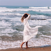 Load image into Gallery viewer, Beach Dress, Cover Up, White Isabella