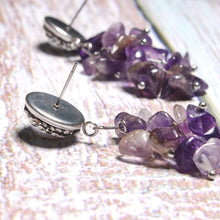 Load image into Gallery viewer, Boho Earrings, Dangle Earrings, Lavender