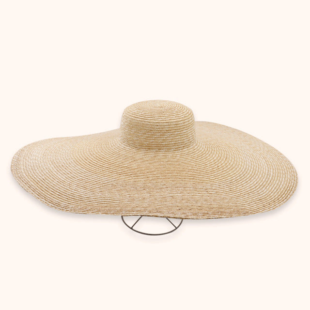 Boho Hat, Sun Hat, Beach Hat, Extra Wide Brim Straw Hat (25 cm), 7 Colors