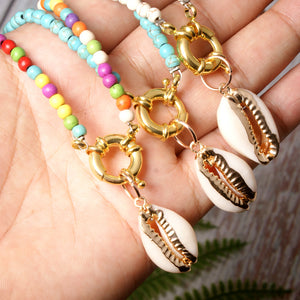 Boho Necklace, Hippie Shell