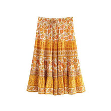 Load image into Gallery viewer, Boho Skirt, Midi Skirt, Lily in Yellow