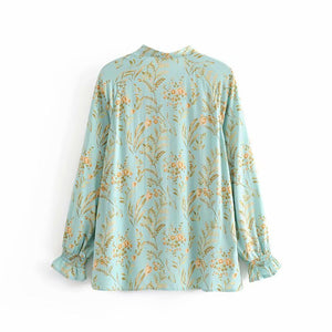 Boho Blouse,  Maisie in Green