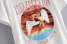 Load image into Gallery viewer, Boho Tee, Vintage T Shirt, Led Zeppelin in White