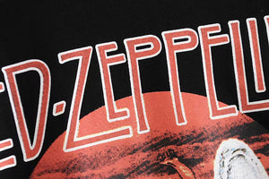 Boho Tee, Vintage T Shirt, Led Zeppelin in Black