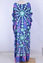 Load image into Gallery viewer, Beach Dress, Cover Up, Kaftan Dress, Blue Ocean