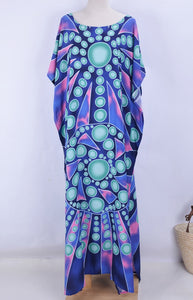 Beach Dress, Cover Up, Kaftan Dress, Blue Ocean