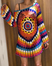 Load image into Gallery viewer, Beach Dress, Cover up, Knitted Crochet Hippie