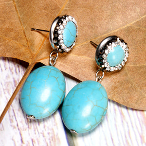 Boho Earrings, Dangle Earrings, Turquoise