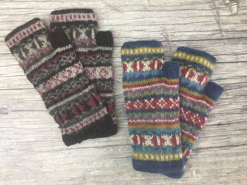 Fingerless Gloves - Extra Long 100%