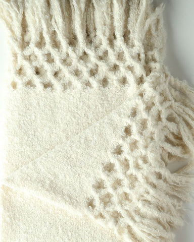 Boucle Throw- Snow- by HdF