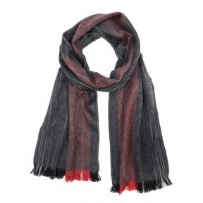 Brushed Alpaca Scarf - Coal Fire