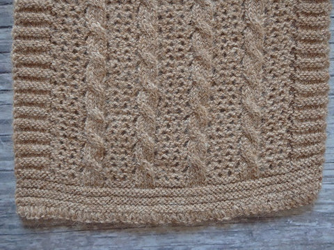 Lace and Cable Scarf
