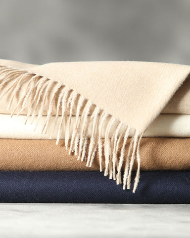 Anew for 19 - Cozy 100% ROYAL BABY Alpaca Throw - by HdF