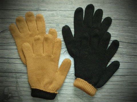 Double Knit Reversible Alpaca Gloves