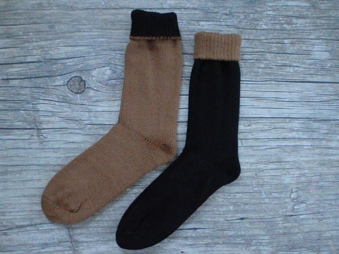 Reversible Double Knitted Socks