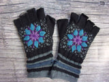 Fingerless Gloves - MW Lined Evening Snowflake