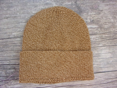 Tweed Knit Cuff Hat