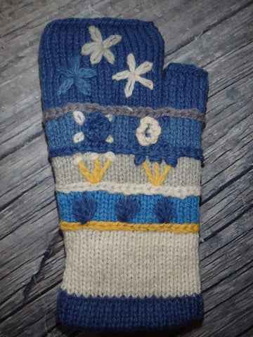 Flower Power Fingerless Gloves
