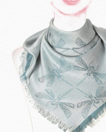 Anew for 19 - Flurry Alpaca & Silk Square Scarf - by HdF