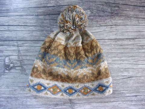 Anew for 19 - Golden Rod Pom-Pom Hat