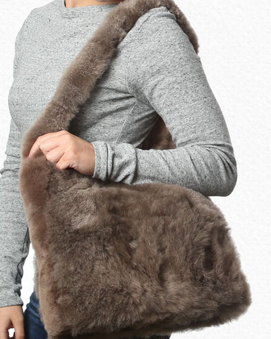 Huddle Alpaca Shoulder Bag