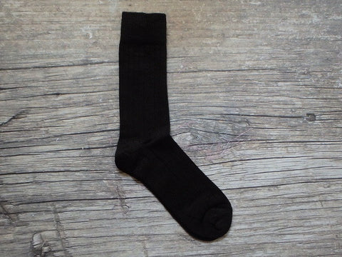 Solid Ribbed Dress Socks