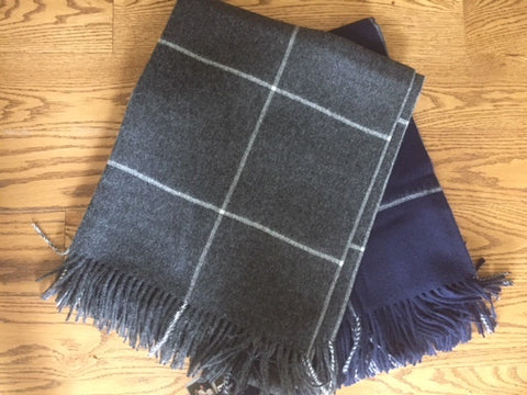 Window Pane Baby Alpaca Throw
